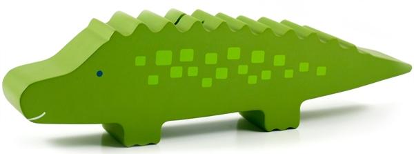 Pokladnička krokodýl Pearhead, dřevěná hračka