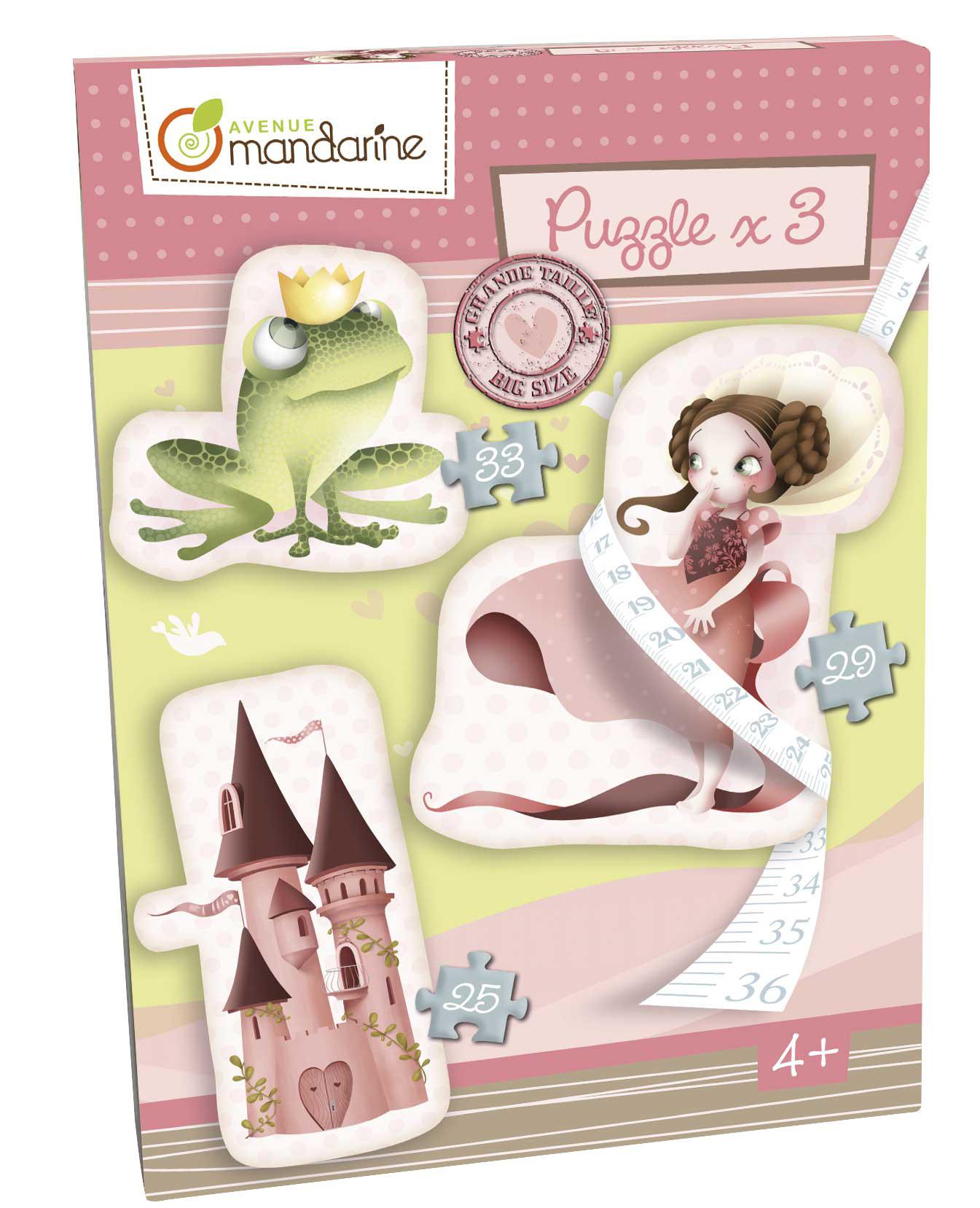 Velké puzzle 3v1 Princezny, Avenue Mandarine