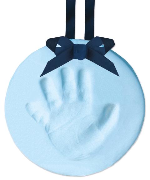 Otisk nožičky Pearhead modrý, závěsná ozdoba