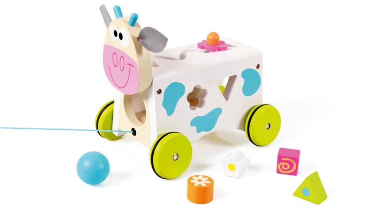 Vkládací kravička s tvary, Scratch
