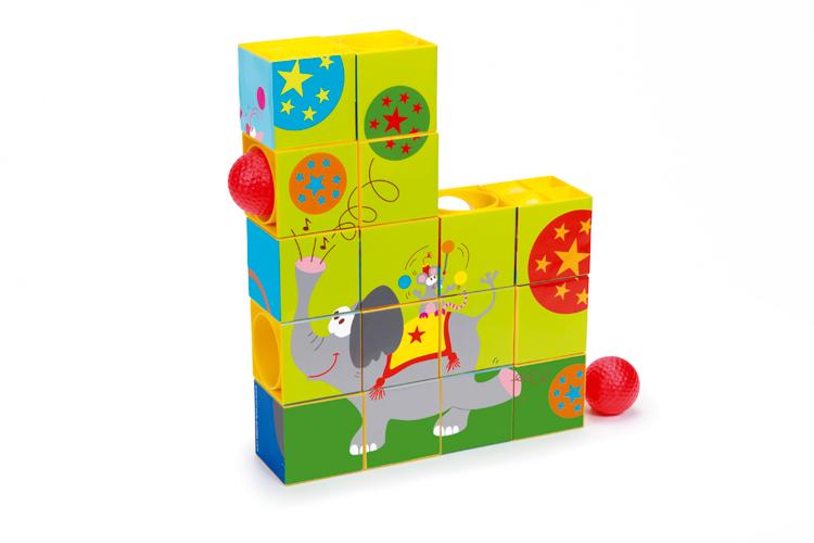 Puzzle a kuličková dráha Cirkus, Scratch
