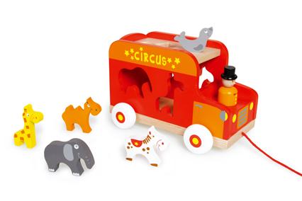 Vkládací náklaďák se zvířátky, Scratch
