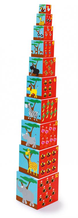 Skládací pyramida Zvířátka, Scratch