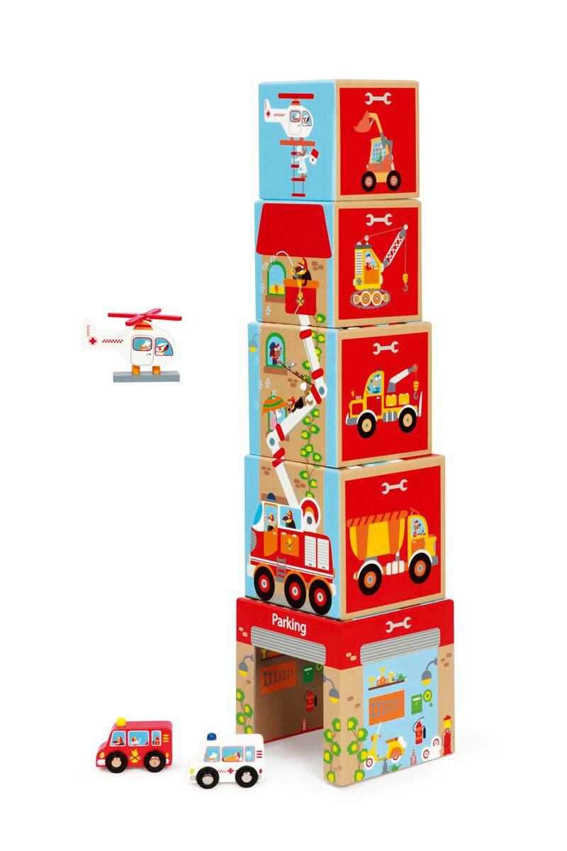 Pyramida Garáž s autíčky a helikoptérou, Scratch