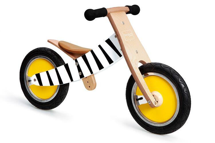 Dřevěné odrážedlo Zebra 2v1, Scratch