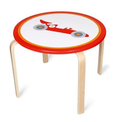 Dřevěný dětský stůl Formule, Scratch