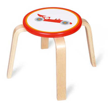 Dřevěná dětská stolička Formule, Scratch