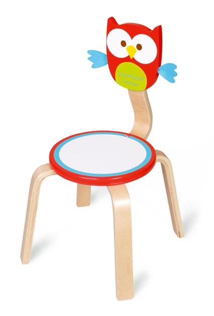 Dřevěná dětská židle Sovička, Scratch