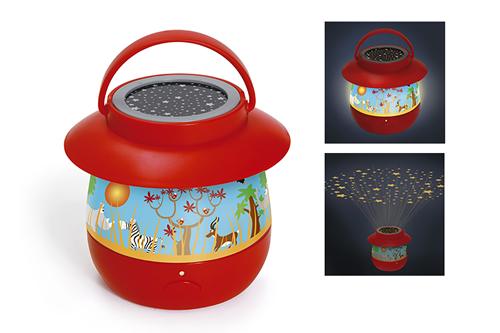 Dětská lampička s projektorem Safari, Scratch