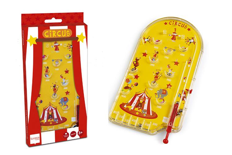 Dětská hra Pinball Cirkus, Scratch