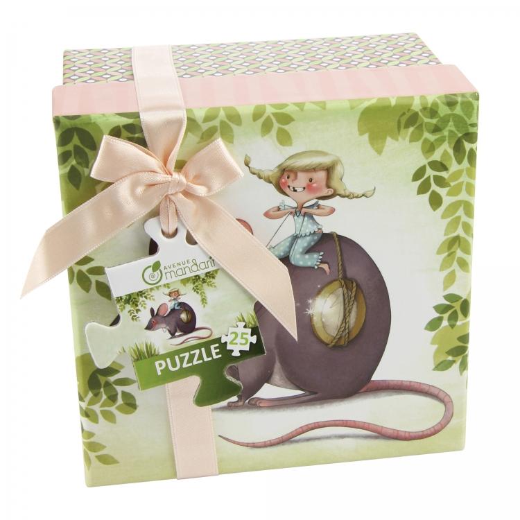 Puzzle v krabičce Myška, Avenue Mandarine