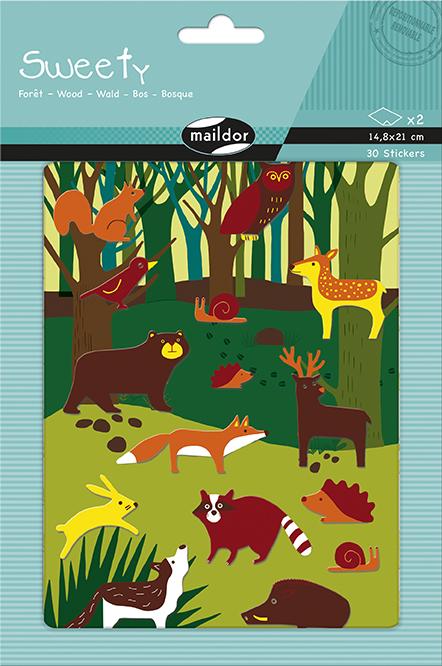 Sada filcových samolepek Zvířátka v lese, Maildor
