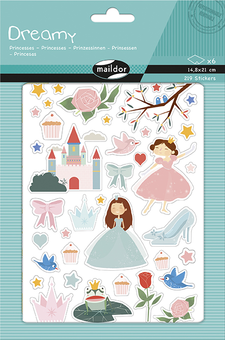 Sada samolepek Princezny, Maildor