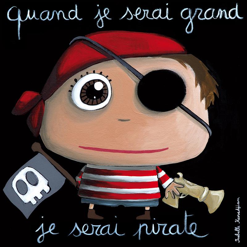 Obrázek na plátně Pirát 15x15 cm, Label Tour