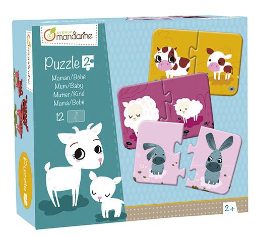 Duo puzzle Maminka a mládě, Avenue Mandarine